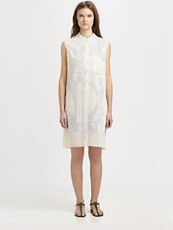 Acne - Money-Print Chiffon Dress
