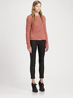 Acne - Cotton Honeycomb Sweater