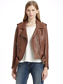 Acne - Leather Motorcycle Jacket