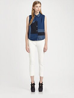Acne - Sleeveless Patchwork Shirt
