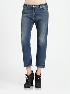 Acne - Cropped Straight-Leg Jean