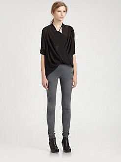 Helmut Lang - Lyra Draped Top