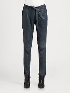 Helmut Lang - Pleated Leather Pants