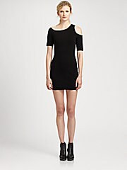 HELMUT Helmut Lang Gala Cold-Shoulder Dress