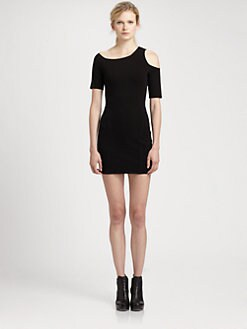 Helmut Lang - HELMUT Helmut Lang Gala Cold-Shoulder Dress
