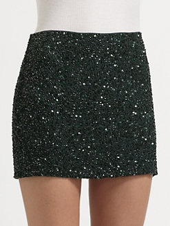 Haute Hippie - Junk Sequin Mini Skirt