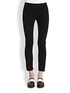 3.1 Phillip Lim - Cropped Jodhpur-Paneled Skinny Pants