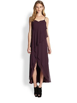 Haute Hippie - Tiered Silk Long Dress