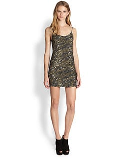 Haute Hippie - Sequin Tiger-Patterned Dress