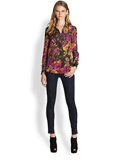 Haute Hippie - Floral Silk Blouse