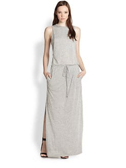 A.L.C. - Brook Paneled-Side Jersey Maxi Dress