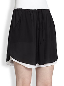 A.L.C. - Arizona Silk Chiffon Double-Layer Skirt
