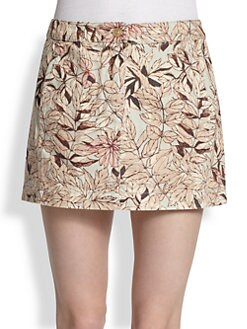 See by Chloe - Printed Mini Denim Skirt