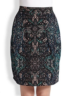 See by Chloe - Printed Tuck Pencil Skirt