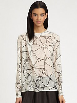 Thakoon Addition - Draped Silk Blouse