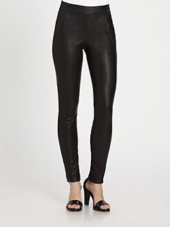 Thakoon Addition - Quilted Leather Leggings