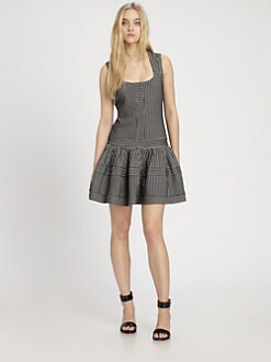 Thakoon Addition - Fit-&-Flare Drop-Waist Dress