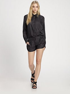 Thakoon Addition - Silk Polka-Dot Blouse