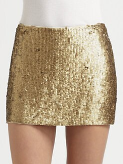 Haute Hippie - Textured Sequin Mini Skirt