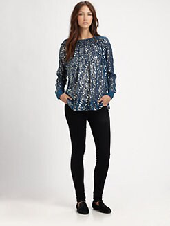Elizabeth and James - Janell Metallic Silk Blouse
