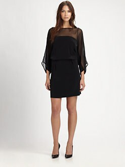 Elizabeth and James - Janice Silk-Trim Dress
