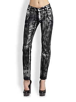 Kelly Wearstler - Foil-Like Skinny Jeans