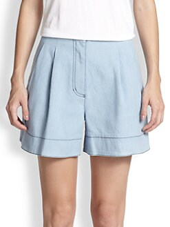 3.1 Phillip Lim - Pleated Chambray Shorts