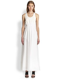 3.1 Phillip Lim - Silk Gathered-Waist Maxi Dress
