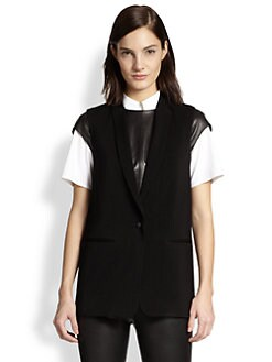 J Brand Ready-To-Wear - Poitier Shawl-Collar Twill Vest