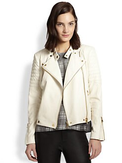 J Brand - Crista Leather Motorcycle Jacket