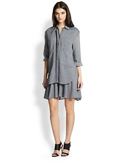 10 Crosby Derek Lam - Cotton Gauze Layered Shirtdress