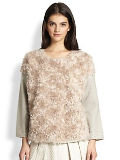 10 Crosby Derek Lam - Faux Fur-Paneled Sweatshirt