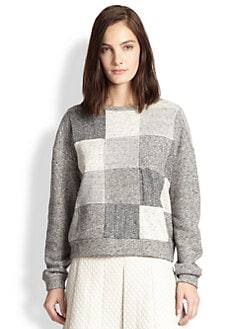 10 Crosby Derek Lam - Block-Patterned Sweatshirt