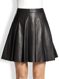 10 Crosby Derek Lam - Faux Leather Pleated Skirt