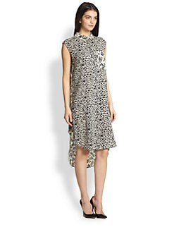 10 Crosby Derek Lam - Stretch Silk Mixed-Print Shirtdress