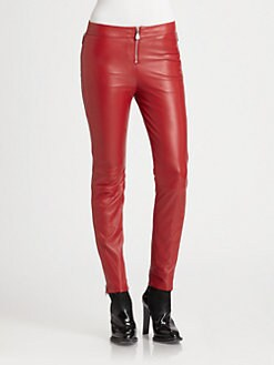 McQ Alexander McQueen - Leather Zip Pants