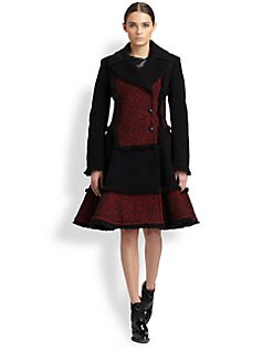 McQ Alexander McQueen - Fringed Tweed Dress Coat