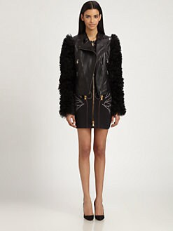 McQ Alexander McQueen - Leather & Shearling Jacket