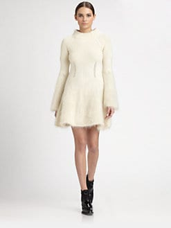 McQ Alexander McQueen - Wool/Mohair Sweater Dress