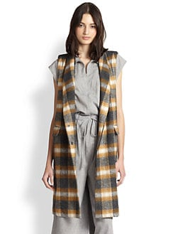 Rachel Comey - Long Plaid Double-Breasted Vest