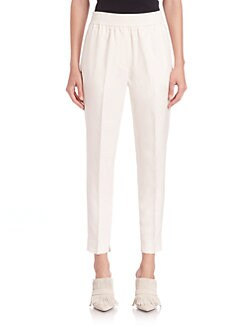 3.1 Phillip Lim - Smocked-Waistband Silk Trousers