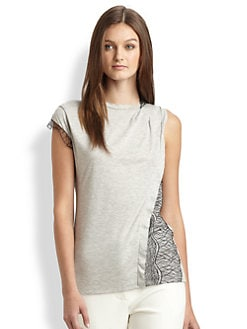 3.1 Phillip Lim - Lace-Trimmed Tee