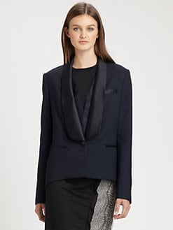 3.1 Phillip Lim - Satin-Trimmed Tuxedo Jacket