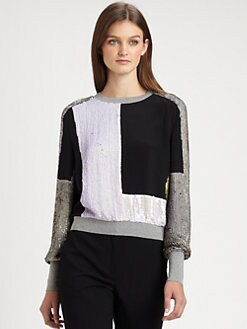 3.1 Phillip Lim - Sequined Silk Top