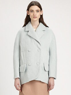 Carven - Hairy Drap Stretch-Wool & Angora Coat