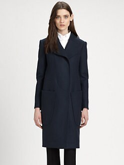 Carven - Caban Drap Long Textured Coat