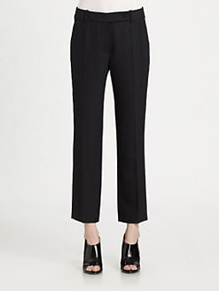 Carven - Stretch-Wool Cropped Tuxedo Pants