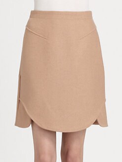 Carven - Caban Drap A-Line Skirt