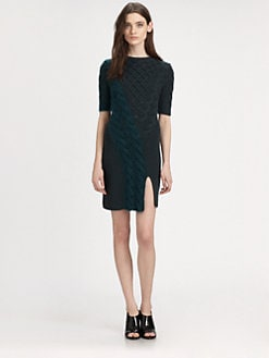 Carven - Twisted Cable-Knit Sweaterdress