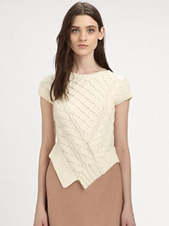 Carven - Twisted Cable-Knit Sweater